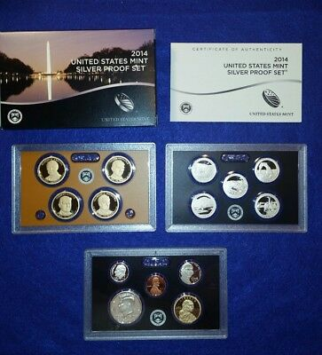 2014 US Silver Proof Set in Original Mint Packaging - FREE SHIPPING