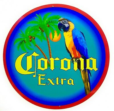 Corona Parrot and Palm Sign -  24 inch Aluminum Sign - New Design