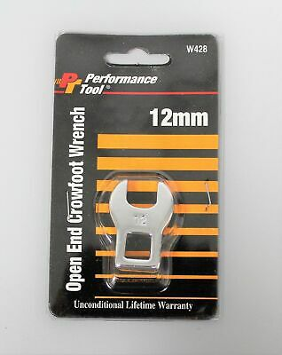 Performance Tool 12mm Open End Crowfoot Wrench W428
