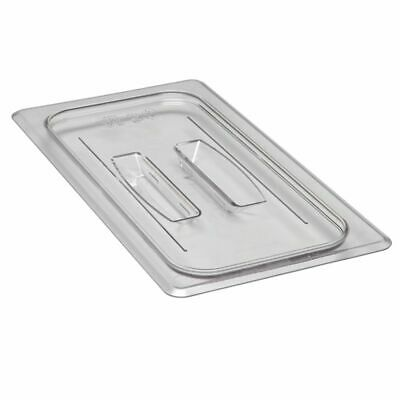 Cambro 30CWCH135 Camwear Clear 1/3 Size Food Pan Cover with Handle