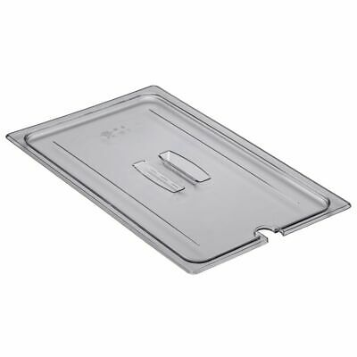 Cambro 10CWCHN135 Camwear Full Size Notched Food Pan Cover with Handle