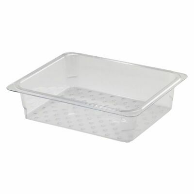 """Cambro 23CLRCW135 Camwear Clear Colander for 3"""" D Half Size Food Pan"""