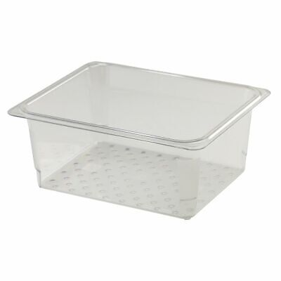 """Cambro 25CLRCW135 Camwear Clear Colander for 5"""" D Half Size Food Pan"""