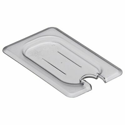 Cambro 90CWCN135 Camwear Clear 1/9 Size Flat Notched Food Pan Cover