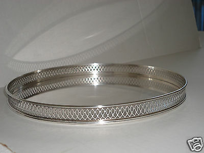 """TIFFANY & CO STERLING SILVER GALLERY TRAY 9 3/4""""  925-1000 1 pound  5 ounce"""