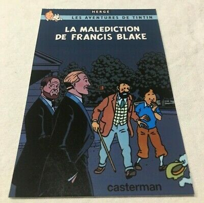 Carte Postale Tintin Blake Et Mortimer Hommage A Herge Jocobs Pastiche