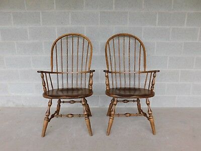 HABERSHAM Hoop Back Windsor Style Arm Chairs - A Pair