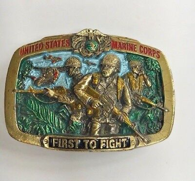 Vintage 1982 US Marine Corps Belt Buckle by Great American Buckle Co.