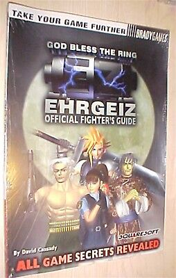 EHRGEIZ Playstation 1 one OFFICIAL STRATEGY GUIDE By Bradygames BRAND NEW SEALED