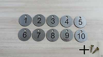 25 Laser Engraved Number Discs, Table, Tags, Locker, Pub, Restaurant, Clubs
