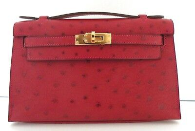 a0be07494a7 HERMES ROUGE KELLY 40 Bag Purse ~ Big and slouchy in red Fjord ...