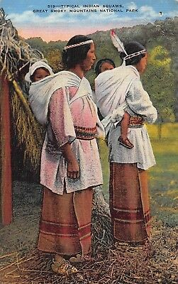 Cherokee Women & Baby Mother Child Native American Indian Vtg Postcard B64