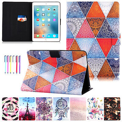 For iPad 9.7 2018 Case Mini Air 2 Smart Wallet Leather Magnetic Flip Stand Cover