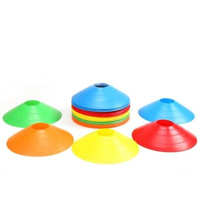 10pcs Marker Training Cones Tall Sports Traffic Soccer Football Rugby Sign Disc