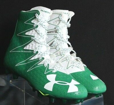985df6c1e593 Under Armour Highlight Clutchfit Football Cleats Green White Men's ...