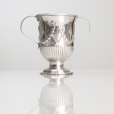 GEORGE III TWIN HANDLE 925 Sterling Wedding Trophy CUP ENGLAND 1819 JOHN LIAS