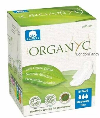 ORGANYC With Organic Cotton Pads. Moderate Flow 10pads