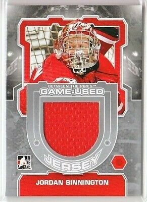 Jordan Binnington 12-13 Itg Btp Between The Pipes Game-Used Jersey Silver /140