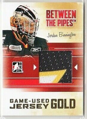 Jordan Binnington 10-11 Itg Btp Between The Pipes Game-Used Jersey Gold /10