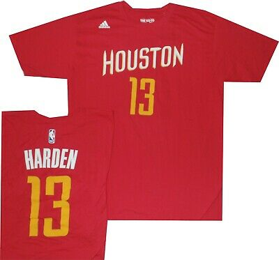 New James Harden Houston Rockets Adidas Red T Shirt with tags