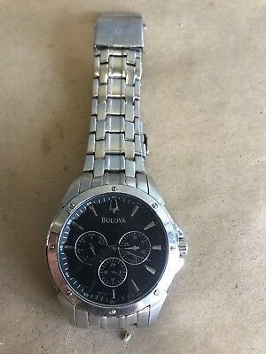 Bulova Classic Men's 96C107 Quartz Chronograph Black Dial 43mm Bracelet Watch