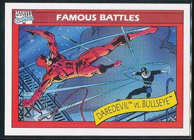 1990 Marvel Universe Series 1 Trading Card #94 Daredevil vs. Bullseye