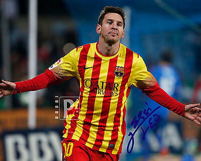 "Lionel Messi Argentine footballer 10""x 8"" Great Signed Color PHOTO REPRINT"