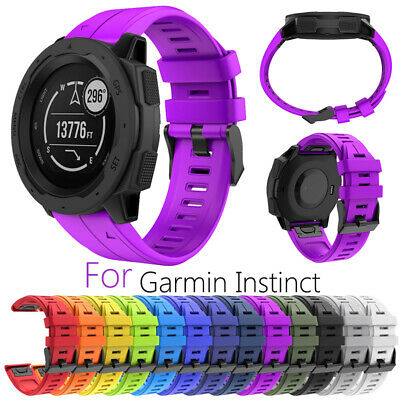 Replacement Watch Strap Silicone Quick Release Wrist Band For Garmin Instinct