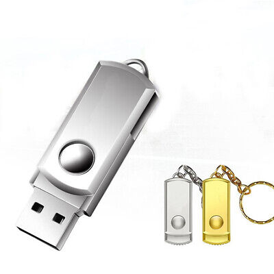 2TB Metal USB 2.0 Flash Drive Memory Stick Pen U Disk Swivel Key Thumb PC New