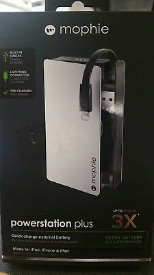 Mophie Portable Power Banks Powerstation Plus 3x With Lightning Connector 5,000