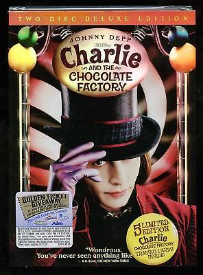 Charlie and the Chocolate Factory (DVD) 2-Disc Edition! Johnny Depp, NEW!