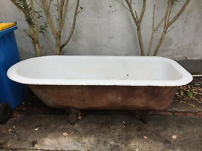Victorian Cast Iron Bathtub (original Claw feet & brass plug)