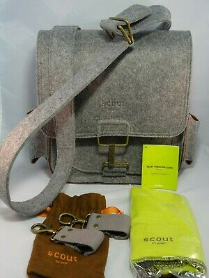 e66e66c2442 SCOUT Compact Journey by Petunia Pickle Bottom Messenger Style Diaper Bag  Gray