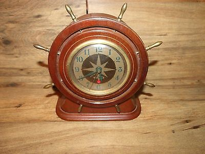 Vintage Seth Thomas E0060-004 Ships Wheel Clock * Worldwide Shipping  *