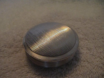 "antique silver (833/1000) dutch pillbox 1833 ""striae"" 27gr"