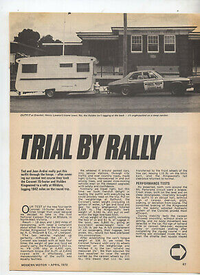 Coronet Caravan Original Test Article Removed from Magazine HQ Holden Kingswood
