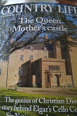 COUNTRY LIFE MAGAZINE  January 30 2019  BRAND NEW Queen Mother's Castle