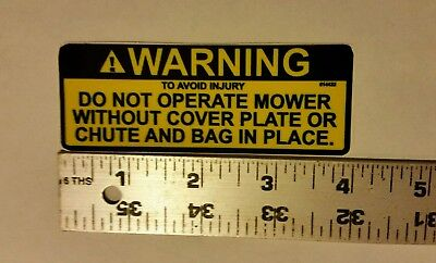 Reproduction lawn-boy mower caution danger deck  bag warning decal.