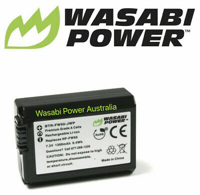 Wasabi Power 1300mAh Battery for Sony NP-FW50 and SLT-A33,A35,A37,A55V, DSC-RX10