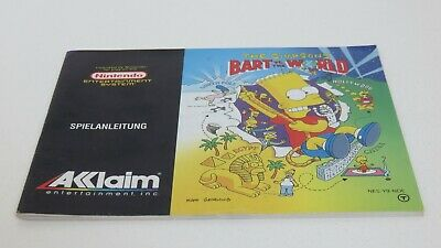 The Simpsons: Bart vs. the World - NES manual only