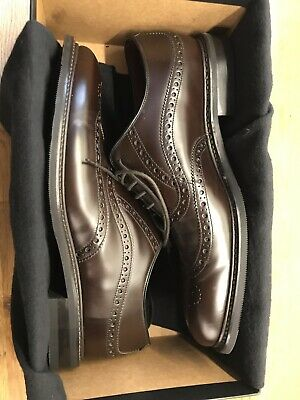 541ab50e LOAKE 'DEMON' DARK Brown Leather Brogues Shoes 8.5/42 - £90.00 ...