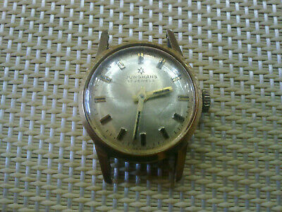 gold plated Vintage Old Swiss made women Wrist Watch JUNGHANS- WORK