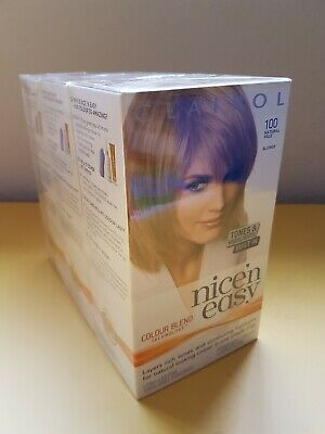 Clairol Nice 'N Easy Natural Pale Blonde 100 9PB Permanent Colour 3 Pack