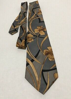70f7d985414 PIERRE BALMAIN, 100% Silk Men's Tie Necktie, Floral, Gray, Brown ...