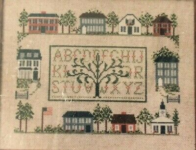 Village Green Counted Cross Stitch Embroidery Kit Our House Needlecrafts 1986