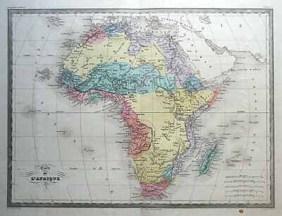 AFRICA Original Malte Brun, hand coloured antique map c1850