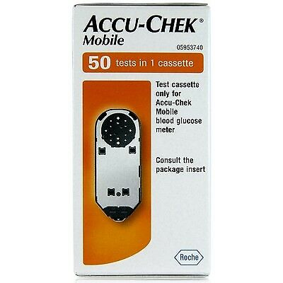 10 cassettes x 50 tests, dedicated for Accu-Chek Mobile blood glucose test meter