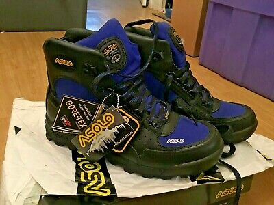 431edd2b64a ASOLO SKYRISER MENS AS-503M Blue Leather Hiking Waterproof Trail Boots Size  10.5