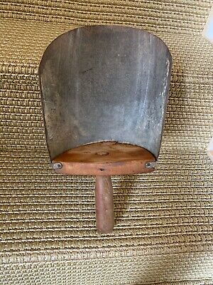 Antique Primitive Hand Made Wood Metal Grain Seed Farm Feed Scoop Vintage Old