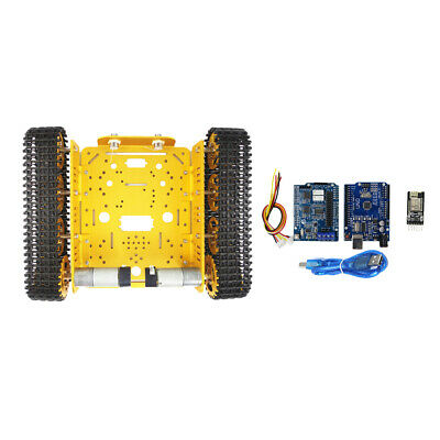 Smart Car Robot Chassis Kit 4 Road Motor for Arduino Raspberry Pi DIY Golden